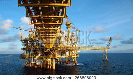 Oil and gas industry .Offshore construction platform for production oil and gas, Production platform