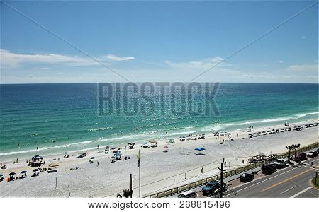 The White Sands Of The Emerald Coast Beaches Contrast Sharply To The Impossibly Blue Waters Of The G