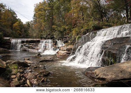French Broad Falls And Shoal Mill Falls In Nantahala National Forest.