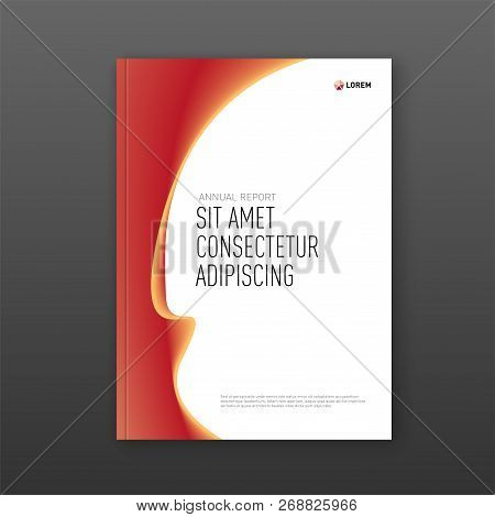 Annual Report Cover Design Template For Business. Good For Annual Report, Magazine Cover, Poster, Co