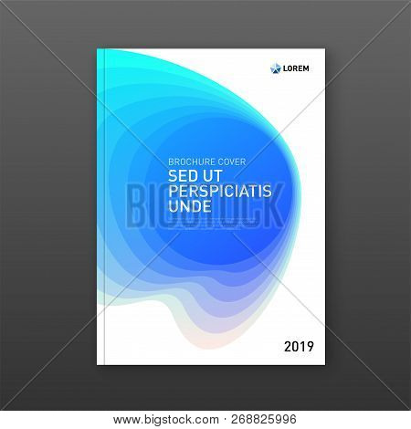 Corporate Brochure Cover Design Template For Business. Good For Annual Report, Magazine Cover, Poste