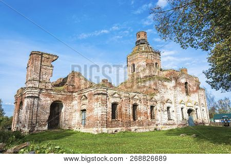 Ruined Church Of The Assumption Of The Blessed Virgin In The Village Of Vyatkoye, Yaroslavl Region,