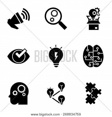 Brainstorming Icon Set. Simple Set Of 9 Brainstorming Vector Icons For Web Design Isolated On White