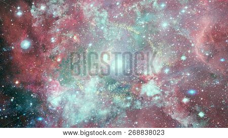 Dreamscape Galaxy. Elements Of This Image Furnished By Nasa.