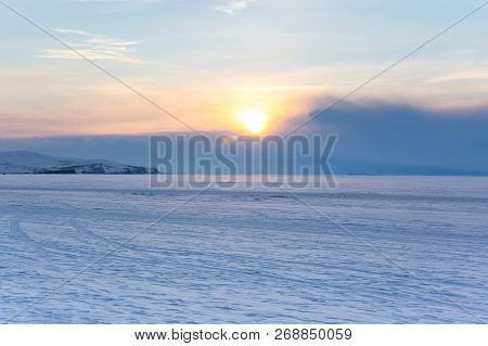 View Of Lake Baikal In Winter, The Deepest And Largest Freshwater Lake By Volume In The World, Locat