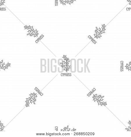 Cypress Leaf Pattern Seamless Vector Repeat Geometric For Any Web Design