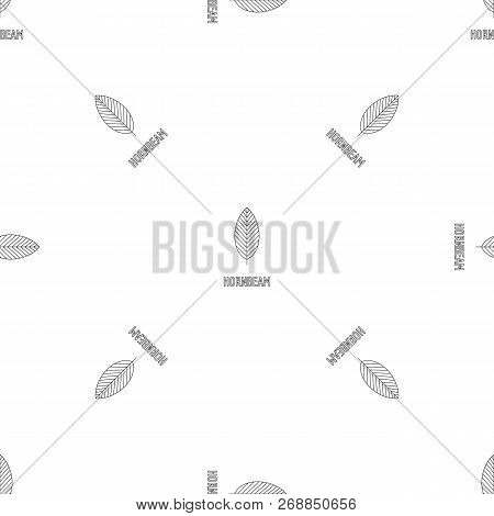 Hornbeam Leaf Pattern Seamless Vector Repeat Geometric For Any Web Design