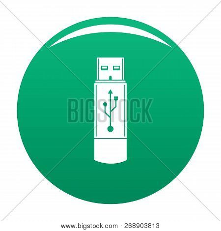 Portable Flash Drive Icon. Simple Illustration Of Portable Flash Drive Vector Icon For Any Design Gr
