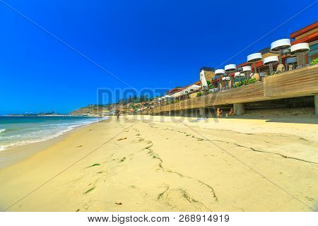Malibu Beach Houses On Popular Carbon Beach Or Billionaire Beach For Many Houses Of Famous People. M