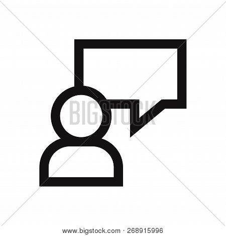 Write Message Icon Isolated On White Background. Write Message Icon In Trendy Design Style. Write Me
