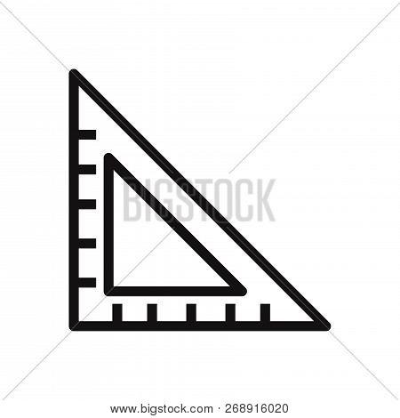 Set Square Icon Isolated On White Background. Set Square Icon In Trendy Design Style. Set Square Vec