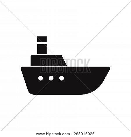Sea Ship Icon Isolated On White Background. Sea Ship Icon In Trendy Design Style. Sea Ship Vector Ic