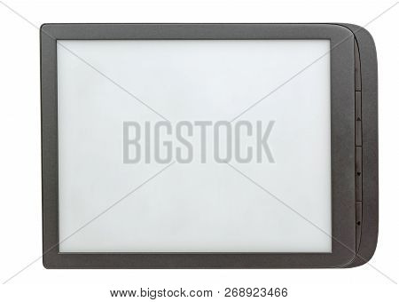 The Electronic Book Reader On White Background