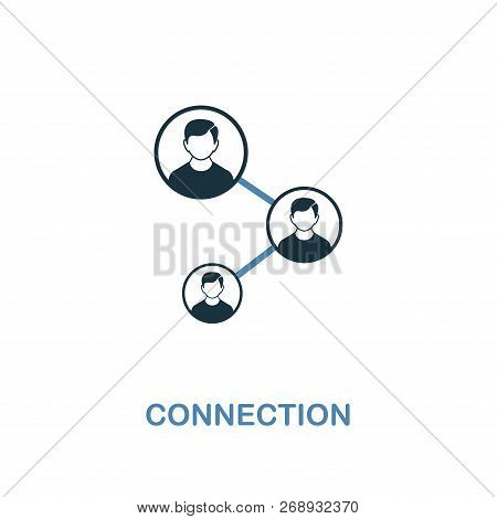 Connection Icon. Two Colors Premium Design From Management Icons Collection. Pixel Perfect Simple Pi