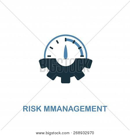 Risk Management Icon. Two Colors Premium Design From Management Icons Collection. Pixel Perfect Simp