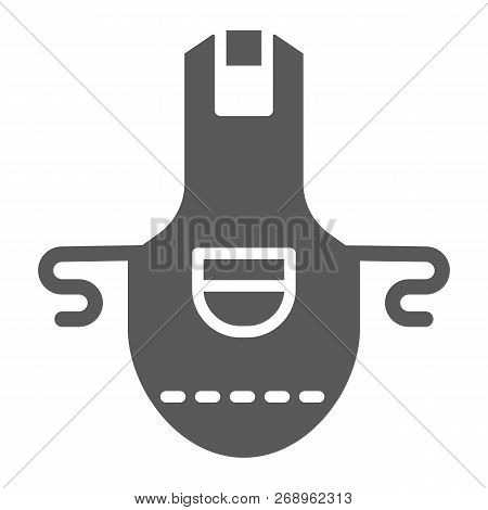 Apron Glyph Icon, Clothing And Kitchen, Pinafore Sign, Vector Graphics, A Solid Pattern On A White B