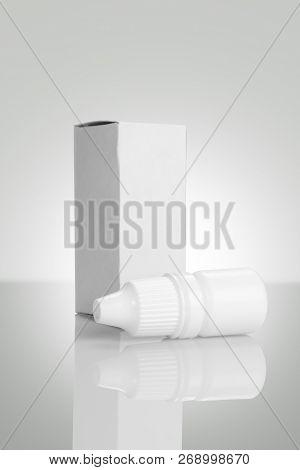 Eye Drop Bottle Mockup Isolated On White Background