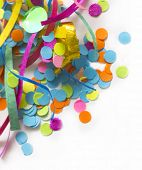 colorful confetti with the place for your text poster