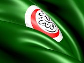 Organisation of Islamic Cooperation flag. Close up. poster