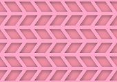 3d rendering. modern pink trapezoid geometric pattern wall background. poster
