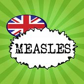Handwriting text writing Measles. Concept meaning Infectious viral disease causing fever and a red rash on the skin poster