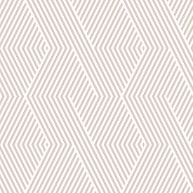 Vector Geometric Lines Pattern. White And Beige Abstract Graphic Striped Ornament. Simple Geometry,