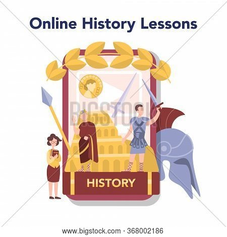 History Online Education Service Or Platform. History School Subject