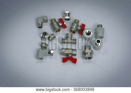 Components For Plumbing And Heating Systems, Fittings And Range Of Spare Parts For Hydraulic Communi