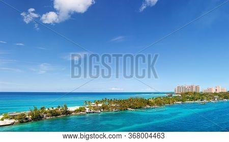 View Of Paradise Island In Nassau, Bahamas.