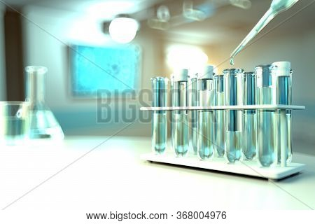 Lab Proofs In Modern Biotechnology Study Clinic - Drinkable Water Quality Test For Bacteria Concept,