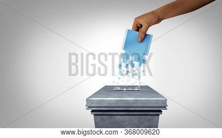 Online Voting Election Concept And Internet Vote Or E-voting  Web Survey With 3d Illustration Elemen