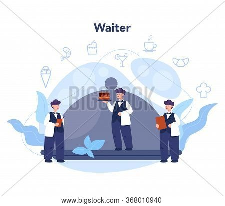 Waiter Concept. Restaurant Staff In The Uniform, Catering Service.