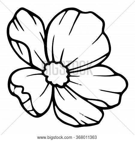 Artistic Peony Flower Icon. Hand Drawn Illustration Of Artistic Peony Flower Vector Icon For Web Des