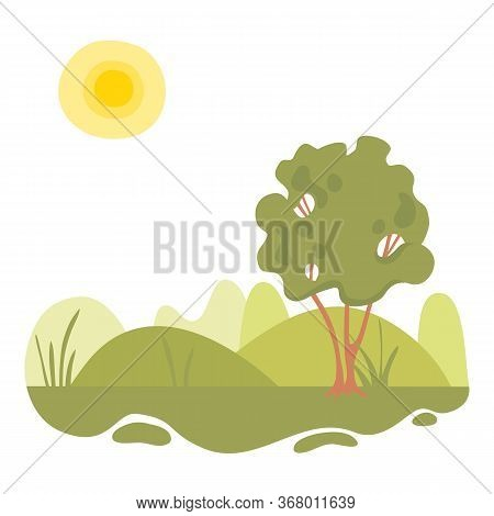 Ecology Forest Green Landscape Icon. Cartoon Of Ecology Forest Green Landscape Vector Icon For Web D