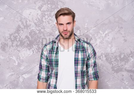 Handsome Dude. Handsome Guy Abstract Background. Handsome Look Of Young Man. Casual Style. Fashion T