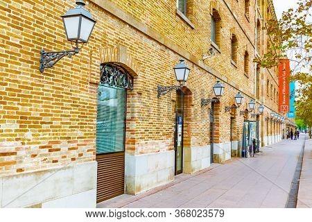 Barcelona, Spain - November 08 2018: Exterior Of Palau De Mar (originally General Port Warehouse) In