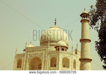 The Taj Mahal Is A White Marble Monument Which Is Located In The City Of Agra, India. Taj Mahal Is O