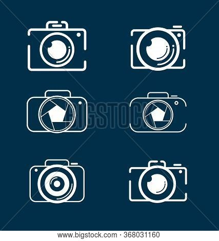 Camera Icons Set For Photographers. Photography Camera Icon Set Vector Eps