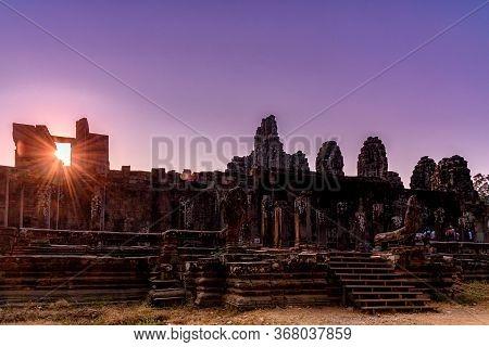 Bayon Temple In Angkor Thom, Siem Reap, Cambodia.