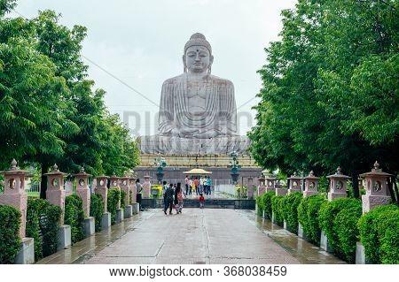 Great Buddha Statue Near Mahabodhi Temple In Bodh Gaia, Bihar State Of India