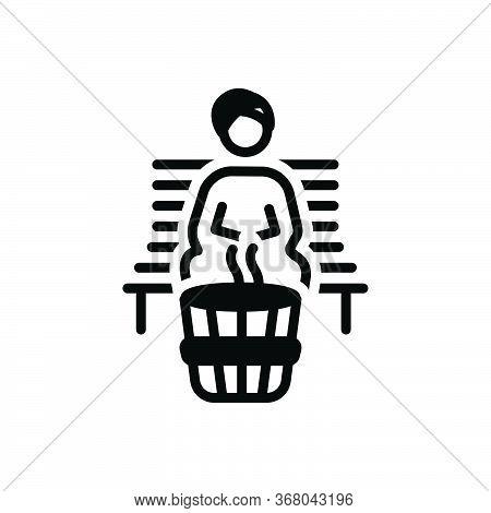 Black Solid Icon For Sauna  Bath  Bathhouse  Spa  Steam Room
