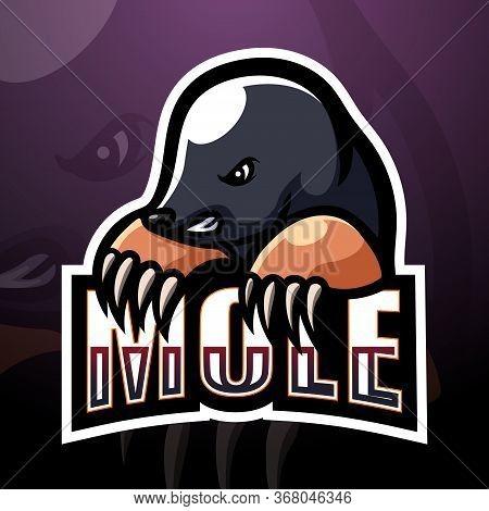 Vector Illustration Of Mole Mascot Esport Logo Design
