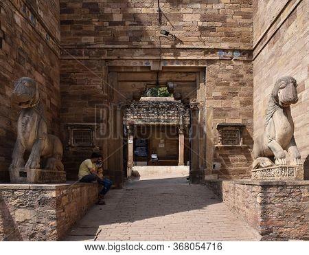 Gwalior, Madhya Pradesh/india : March 15, 2020 - Entrance Of 'gujari Mahal' In Gwalior Fort