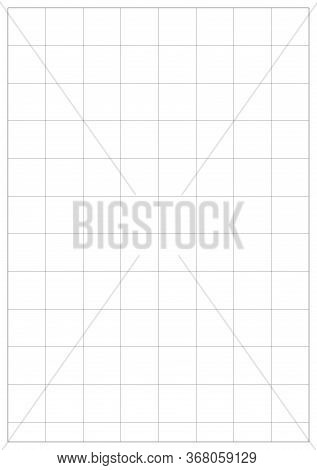 Blueprint Vector Paper A5 Sheet. Blank A5 With White Corner Bounding Box. International Paper A5 Siz