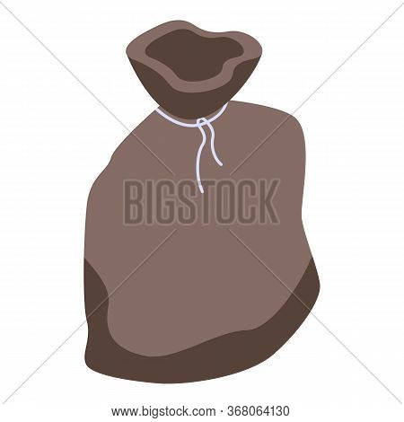 Purse Sack Icon. Isometric Of Purse Sack Vector Icon For Web Design Isolated On White Background
