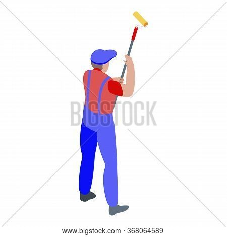 Craftsman Painting Icon. Isometric Of Craftsman Painting Vector Icon For Web Design Isolated On Whit