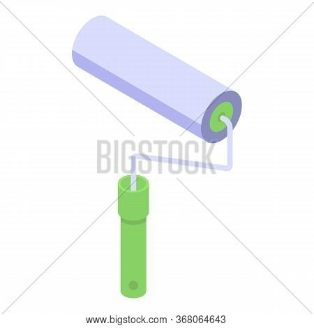 Paint Wall Roller Icon. Isometric Of Paint Wall Roller Vector Icon For Web Design Isolated On White