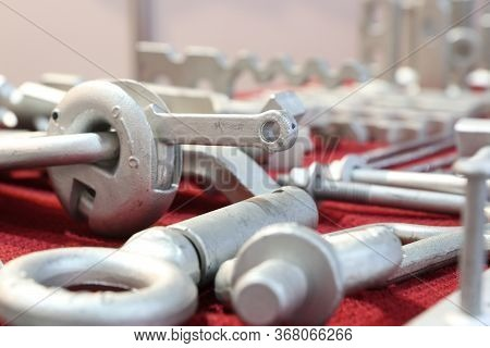 As Forged Anchor Parts For Heavy Lifting In Construction Industry ; Engineering Background ;