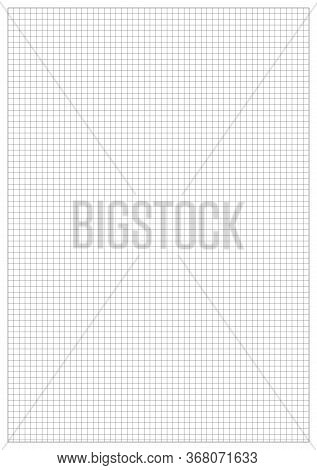 Realistic 2d Vector Grid A5 Mock Up. Universal Format A5. A5 Blank With White Corner Bounding Box. A