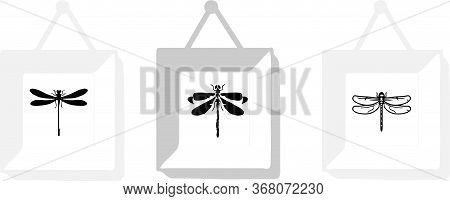 Dragonfly Icon Isolated On Background  Predator, Sign, Symbol